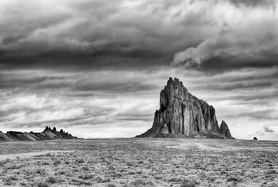 Storm over Shiprock by Gordon Banks - Landscapes Deserts ( shiprock, new mexico )