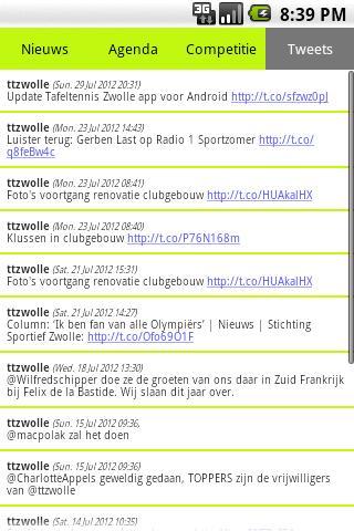Tafeltennis Zwolle- screenshot