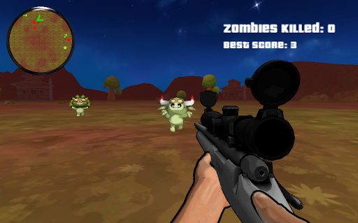 Sniper Attack : Zombie Animals