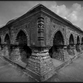 rasmancha by Debasis Banerjee - Buildings & Architecture Places of Worship ( temple, bishnupur, west bengal, terracotta temple, rasmancho, hindu temple, india, heritage building, ancient architecture, temple in bricks )