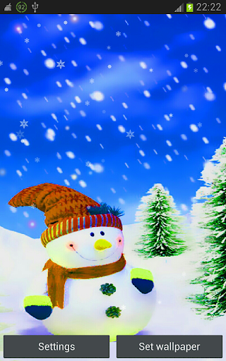 Xmas and New Year Snowman hd
