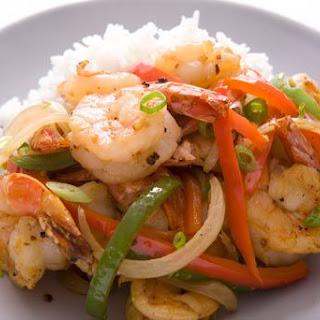 Wok-Fried Black Pepper Shrimp.