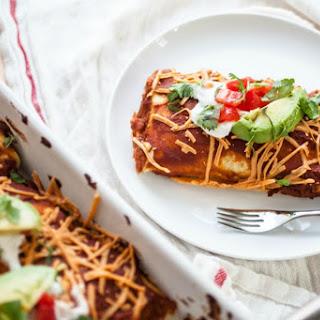 Black Bean, Corn and Red Rice Enchiladas [Vegan].