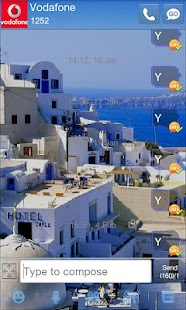 GO SMS Pro Santorini Theme - screenshot thumbnail