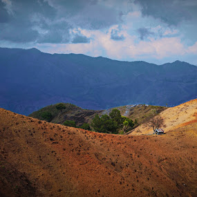 field house by Charles Saunders - Novices Only Landscapes ( field, mountains, dominican republic, house, farming, relax, tranquil, relaxing, tranquility )