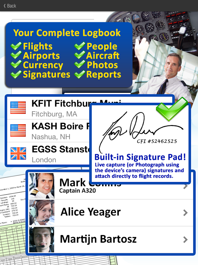 Safelog Pilot Logbook - screenshot