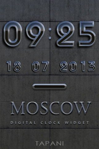 Moscow DIGITAL CLOCK WIDGET