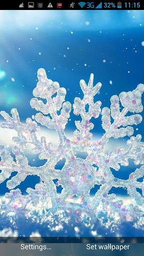 雪花動態壁紙