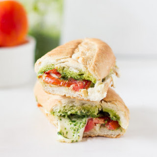 Caprese Sandwich with Parsley Pesto