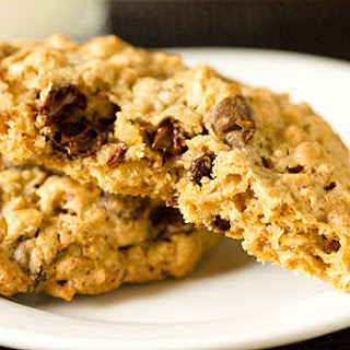 Salted Espresso Oatmeal Chocolate Chip Cookies.