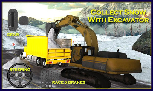 雪地救援运:挖掘机3D