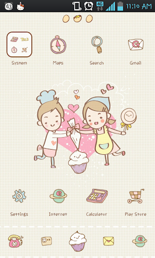 cooking go launcher theme