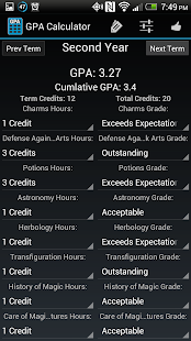 Simple GPA Calculator - screenshot thumbnail