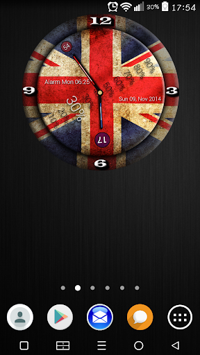 England Flag Clock Widget
