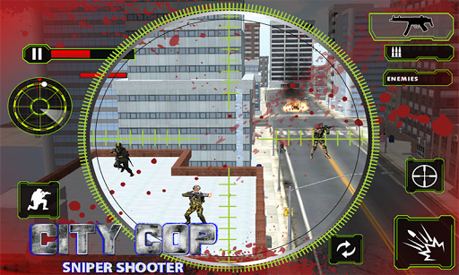 City Cop Sniper Shooting 3D