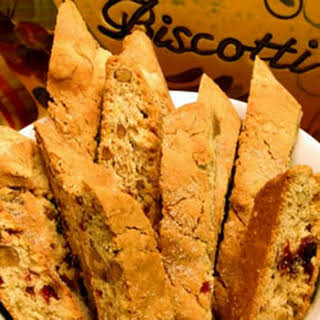 Cranberry Almond Biscotti.