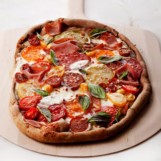 Basil and Tomato Pizza