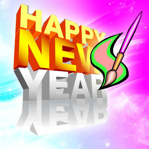 Happy New Year Coloring Books