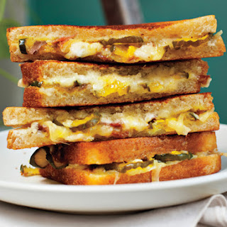 Grilled Ham, Cheese, and Pickle Sandwiches