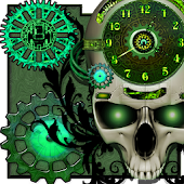 Steampunk Clock Live Wallpaper icon