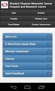 Shaukat Khanum Mobile App - screenshot thumbnail
