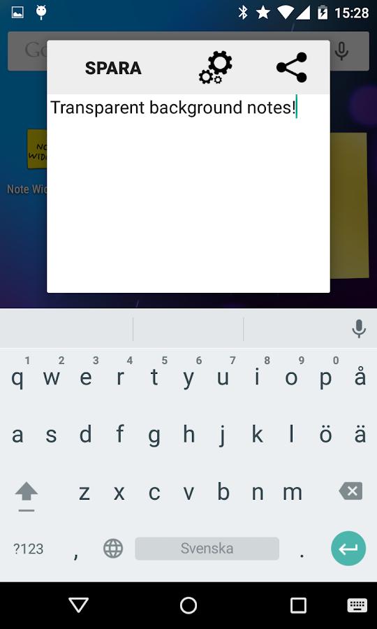 Note Widget - screenshot