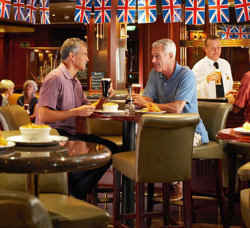 Pub-Lunch-Princess-Cruises - Enjoy a taste of British pub grub and lift a pint with a friend at the Pub Lunch on your Princess ship.