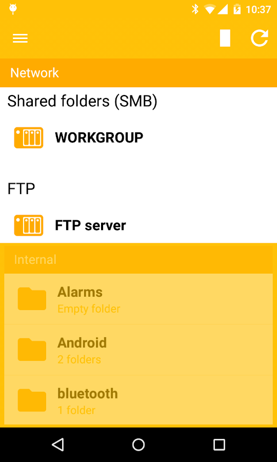 Archos File Manager- screenshot
