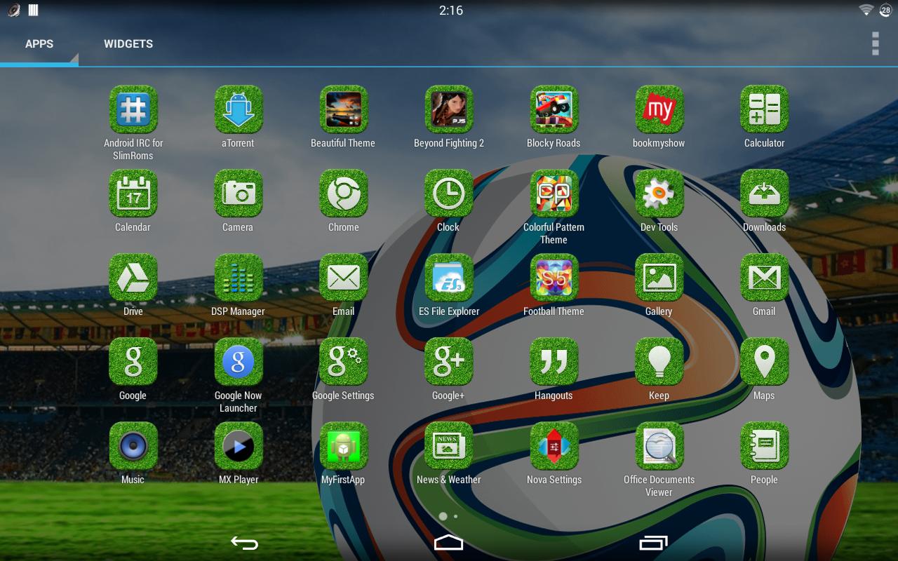 Gmail themes 2014 free download - Football Theme Screenshot