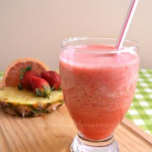 Grapefruit, Strawberry, and Pineapple Juice