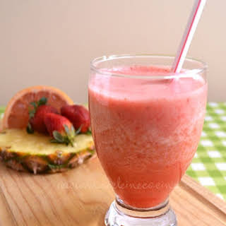 Grapefruit, Strawberry, and Pineapple Juice.