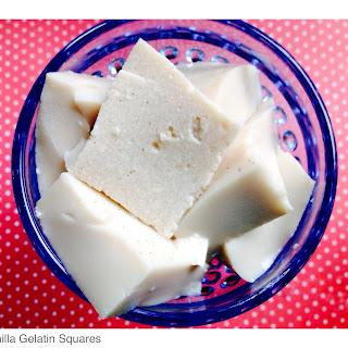 Low Carb Vanilla Gelatin Squares