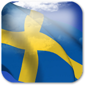 3D Sweden Flag Live Wallpaper+