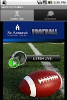 Screenshot of Saints Athletics