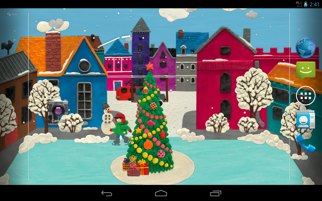 Winter town Live wallpaper HD- screenshot