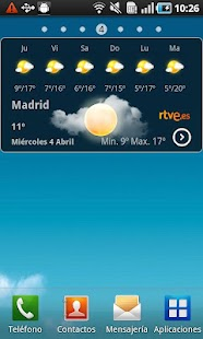 El Tiempo en RTVE.es- screenshot thumbnail