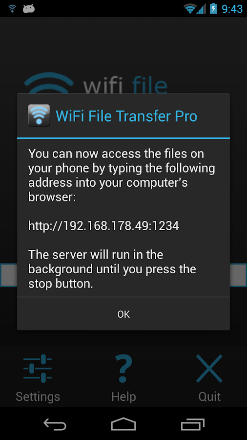 WiFi File Transfer Pro - screenshot