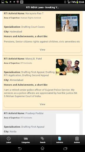 新聞必備APP下載|RTI ACTIVISTS 好玩app不花錢|綠色工廠好玩App