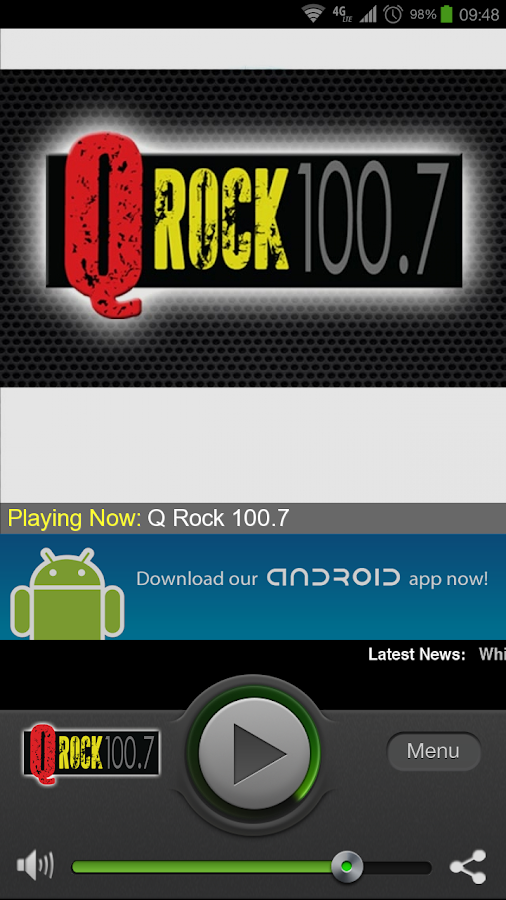 Q Rock 100.7 - screenshot