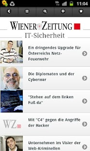 WZ mobile - Wiener Zeitung - screenshot thumbnail