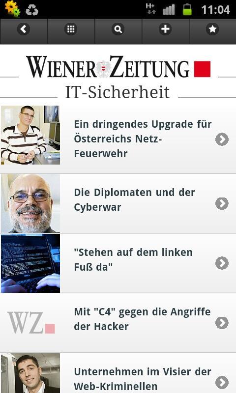 WZ mobile - Wiener Zeitung - screenshot