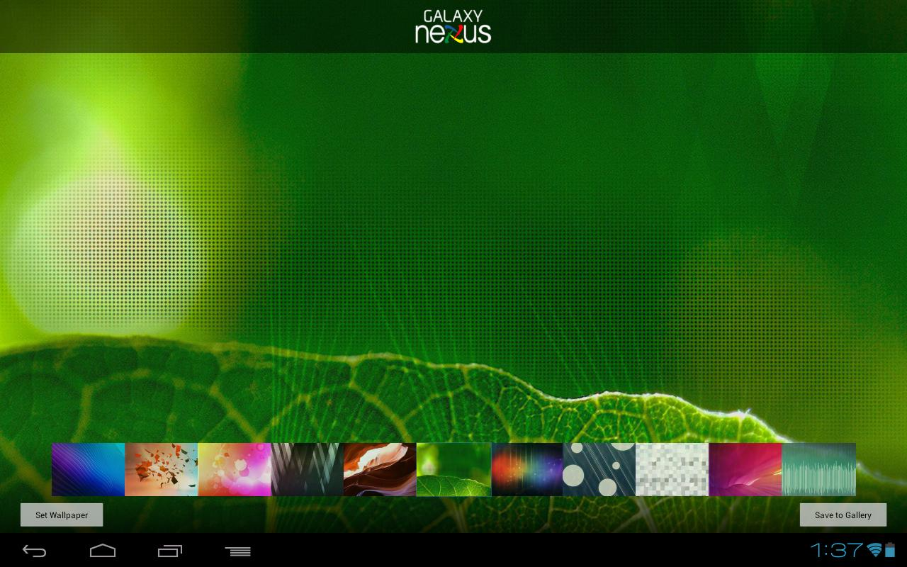 Wallpapers - Galaxy Nexus - screenshot