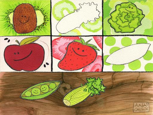 玩教育App|Toni's Fruit&Vegetable Puzzle免費|APP試玩