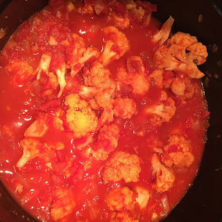 Tomato Braised Cauliflower