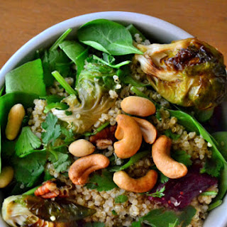 Roasted Brussels Sprout and Cashew Quinoa Salad {Gluten-Free, Dairy-Free, Soy-Free, Vegan}