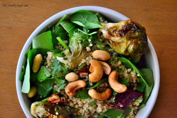 Roasted Brussels Sprout and Cashew Quinoa Salad {Gluten-Free, Dairy-Free, Soy-Free, Vegan} Recipe