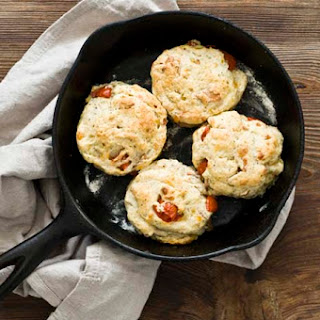 Tomato, Cheddar, And Bacon Biscuits.