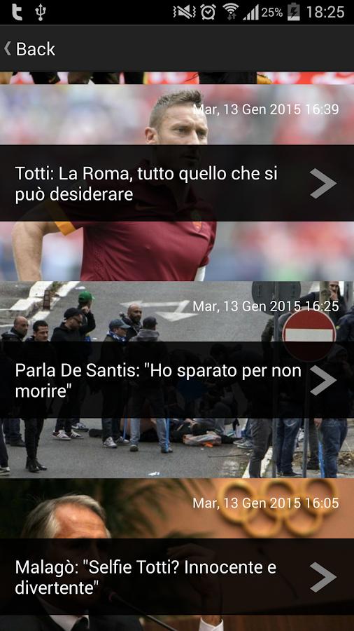 ReteSport App Ufficiale - screenshot