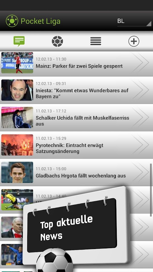 Pocket Liga - Live Ticker - screenshot