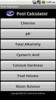 Screenshot of Pool Calculator